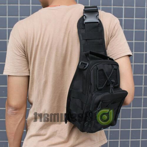 Men Molle Sling Pack Bag Outdoor