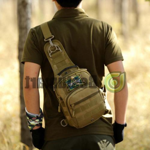 Men Backpack Molle Sling Shoulder Bag Outdoor Hiking