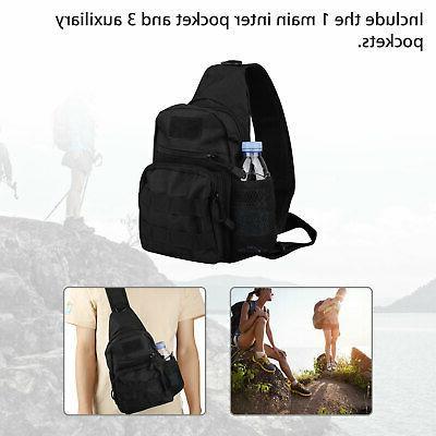 Men Molle Sling Chest Pack Messenger Bag
