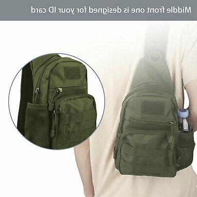 Men Molle Tactical Sling Bag Pack Shoulder