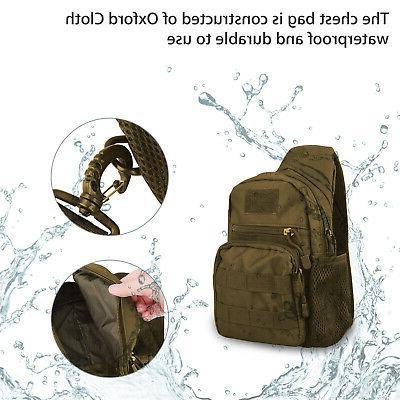 Men Backpack Sling Chest Assault Pack Shoulder