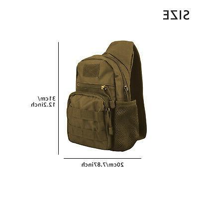 Men Backpack Molle Sling Chest Assault Pack