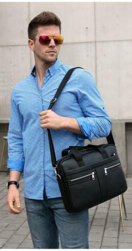 MVA Men Leather Handbag