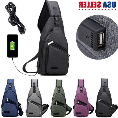 men canvas messenger shoulder bag sling chest