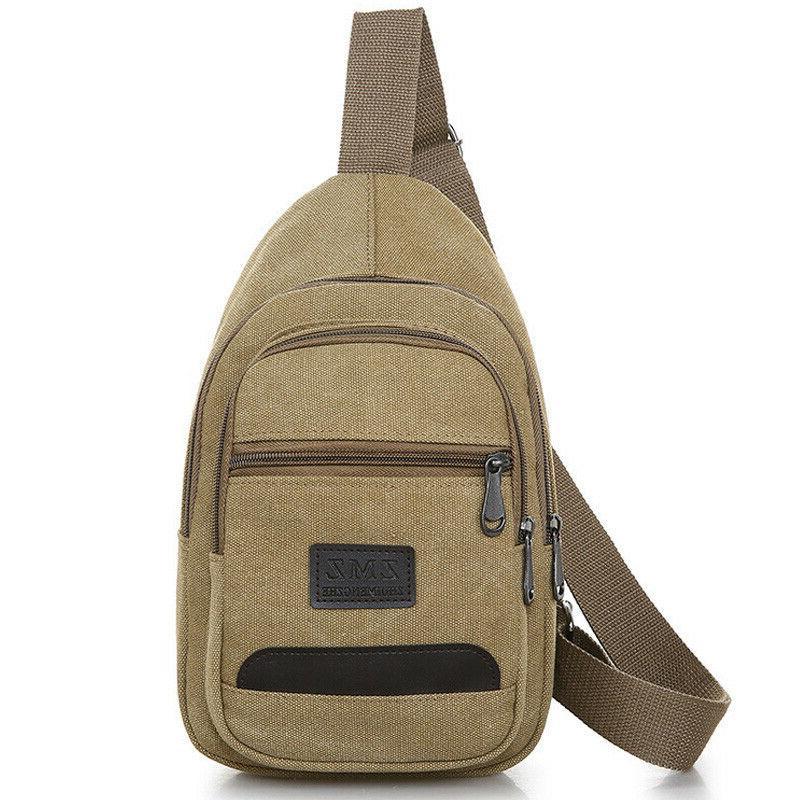 Men Sling Pack Crossbody Shoulder Travel Messenger Handbag