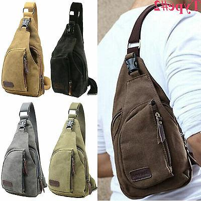Men Canvas Vintage Crossbody Satchel Shoulder Pocket