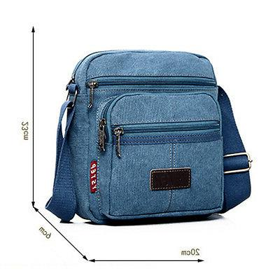 Men Canvas Crossbody Satchel Pocket Casual