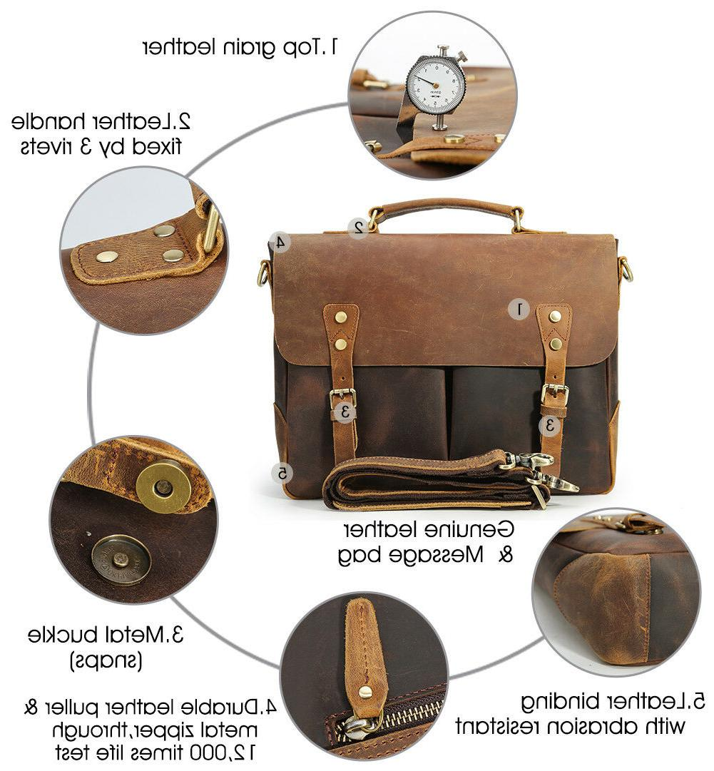 "Men 14"" Handbag Messenger Bag Satchel"