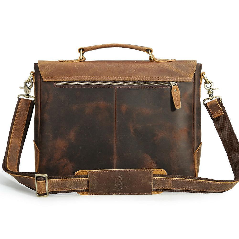 """Men Briefcase 14"""" Handbag Shoulder Messenger Satchel"""