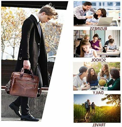 BULLCAPTAIN Men Business Briefcase Shoulder