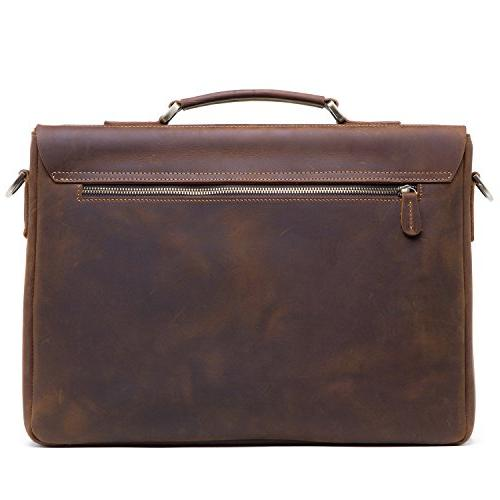 5ad953026518 Jack&Chris Men's Leather Briefcase Messenger Bag Laptop Crossbody