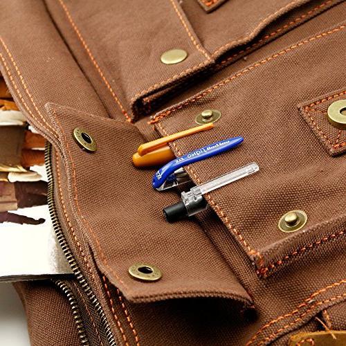 """GEARONIC TM Bag 15"""" Laptop Satchel Rucksack Shoulder Leather for"""