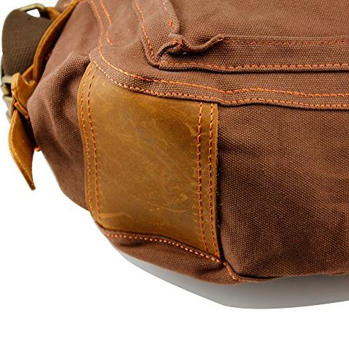 """Bag 17"""" Satchel Vintage Rucksack Leather for"""