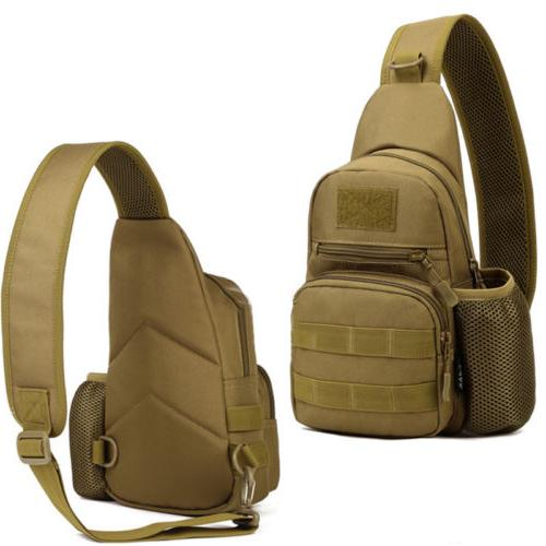 Mens Camo Tactical Bag Crossbody Shoulder Chest Travel