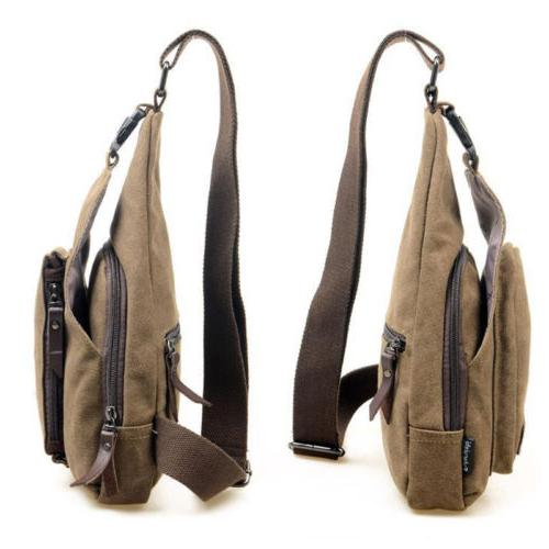 Mens Camo Bag Backpack Chest Travel Handbag