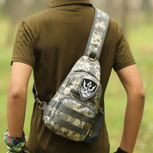 Mens Tactical Bag Crossbody Shoulder Chest Handbag