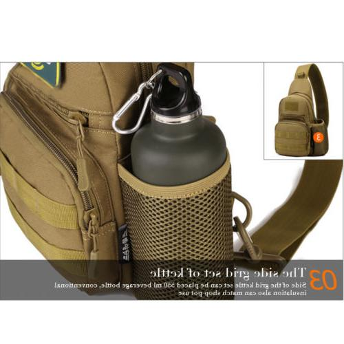Mens Tactical Sling Bag Backpack Crossbody Chest Travel Handbag