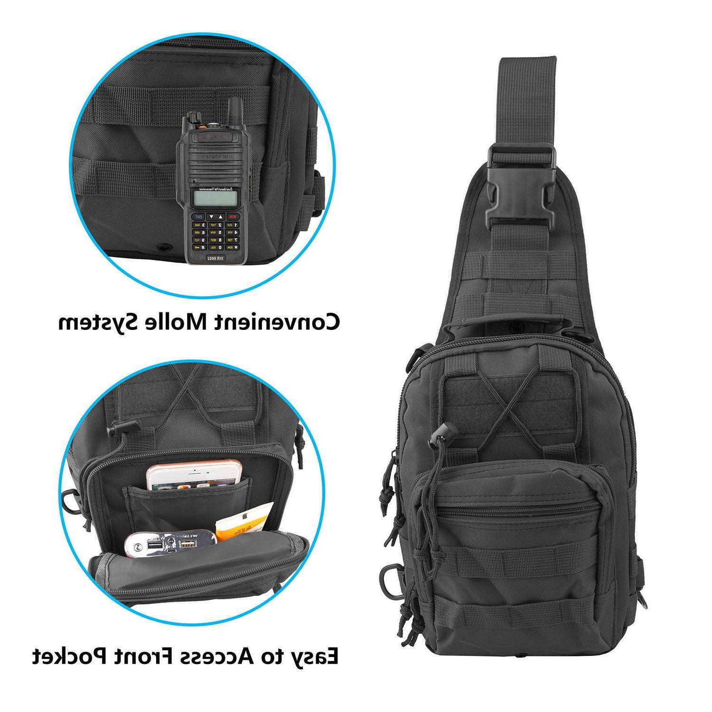 Men Molle Chest Bag Messenger