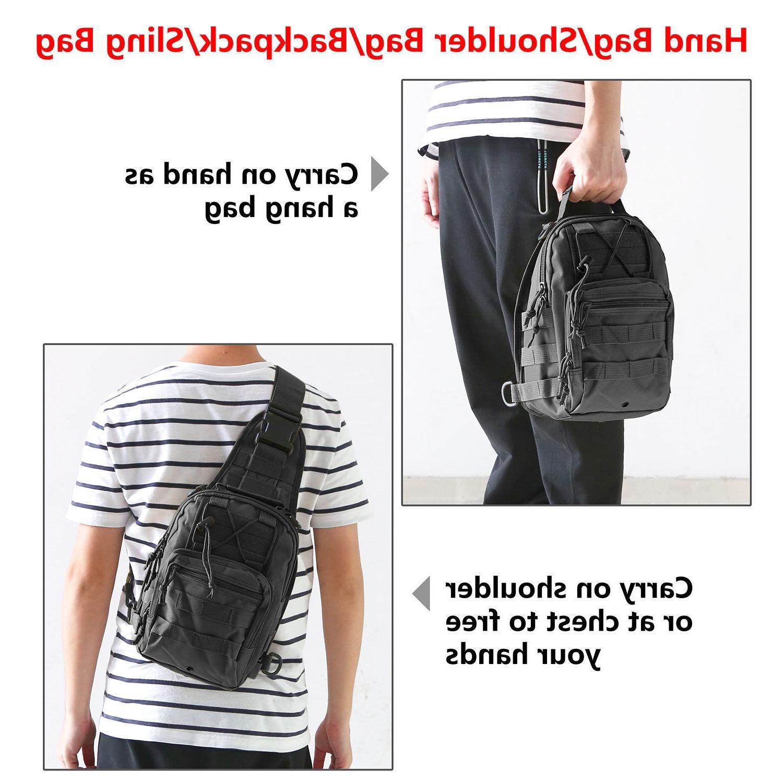 Men Molle Sling Messenger Backpack