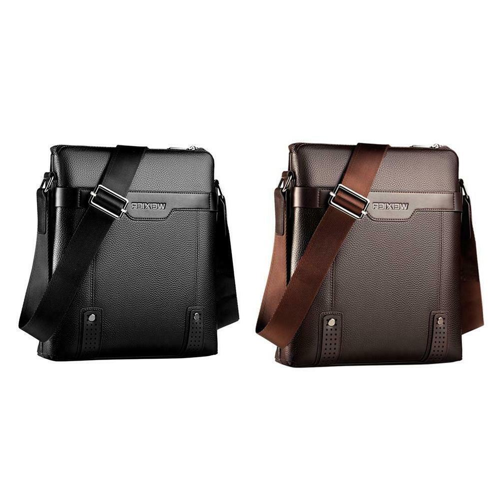 Men PU Soft Messenger Bag Business