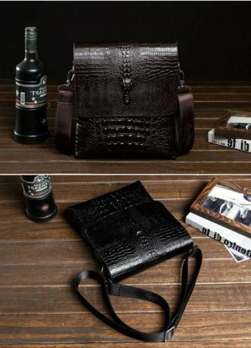 Men's Leather Shoulder Messenger Crossbody US