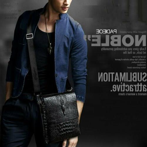 Men's Leather Shoulder Handbag Messenger