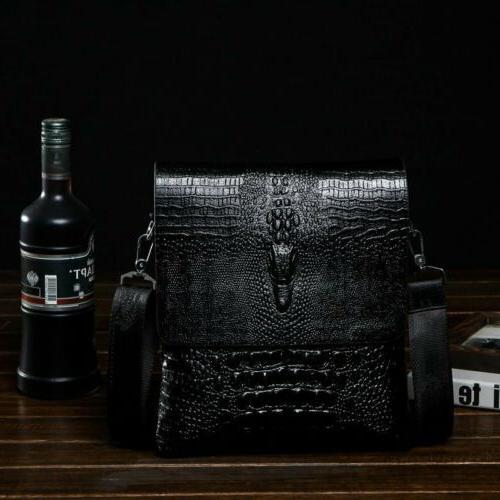 Men's Alligator Briefcase Leather Bag Messenger