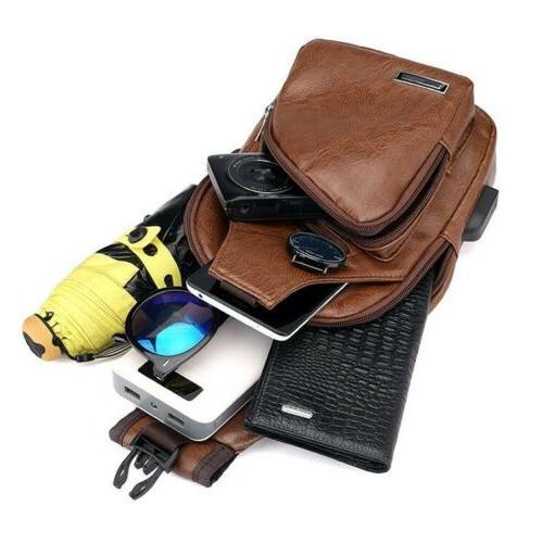 Men's Chest Bag Shoulder Crossbody Backpack Satchel