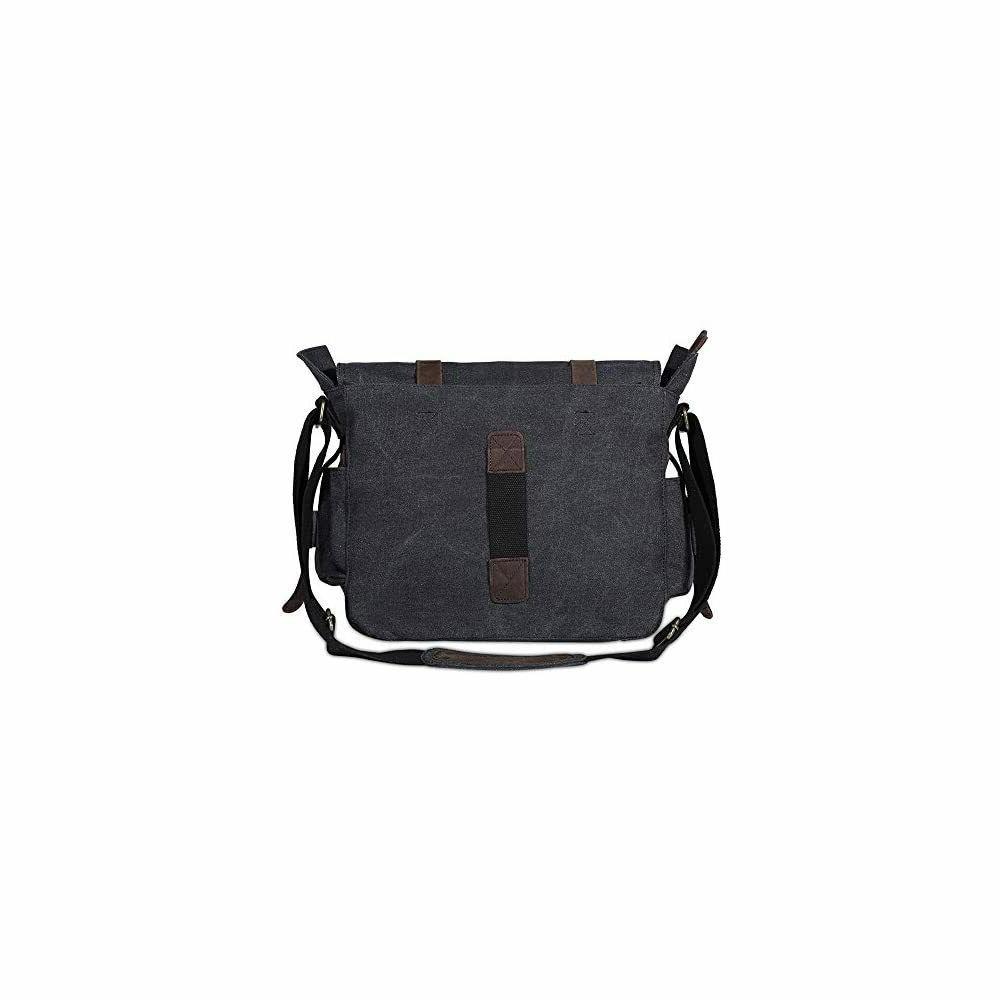 Peacechaos Canvas Leather Messenger Bag