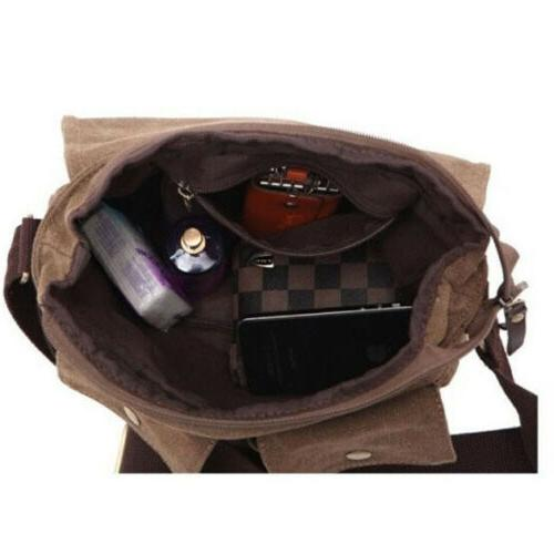 Men's Canvas Bag Messenger Shoulder Bags School