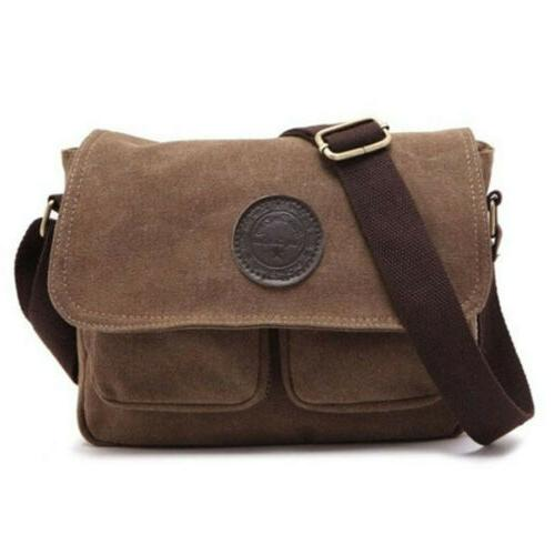Men's Canvas Cross Bag Bags School Vintage