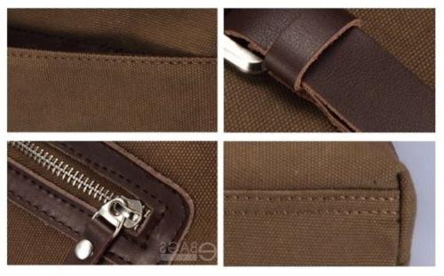 Men's Canvas Military Messenger Shoulder Bag New