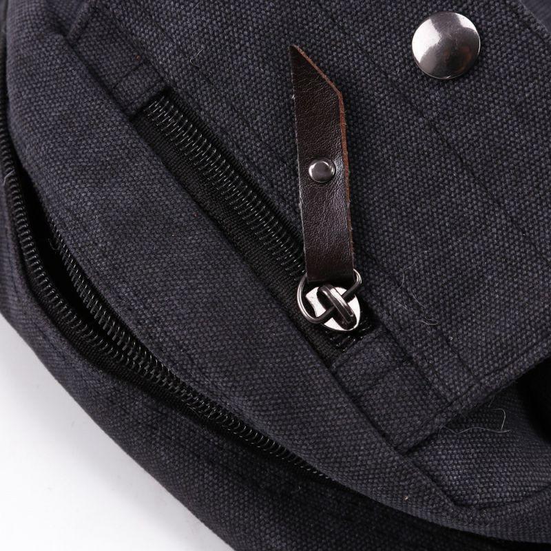 Men's Canvas Leather School Bag Messenger Bag Vintage