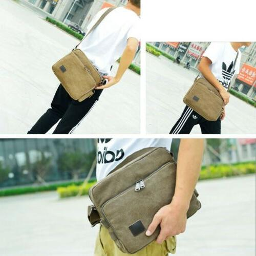 Men Vintage Military Canvas Crossbody Bag Messenger Shoulder