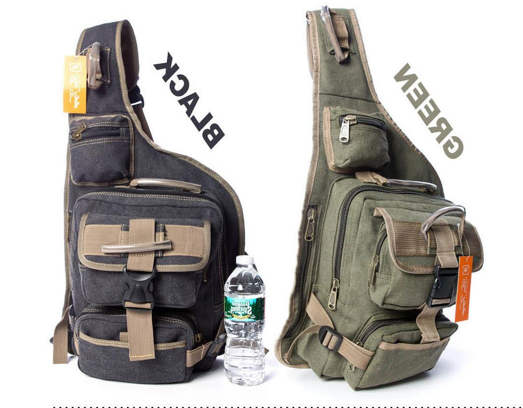 Men's Casual Military Canvas Cross body Sling Messenger Scho