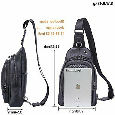 Banuce Leather Versatile Sling Bag Shoulder Chest Packs