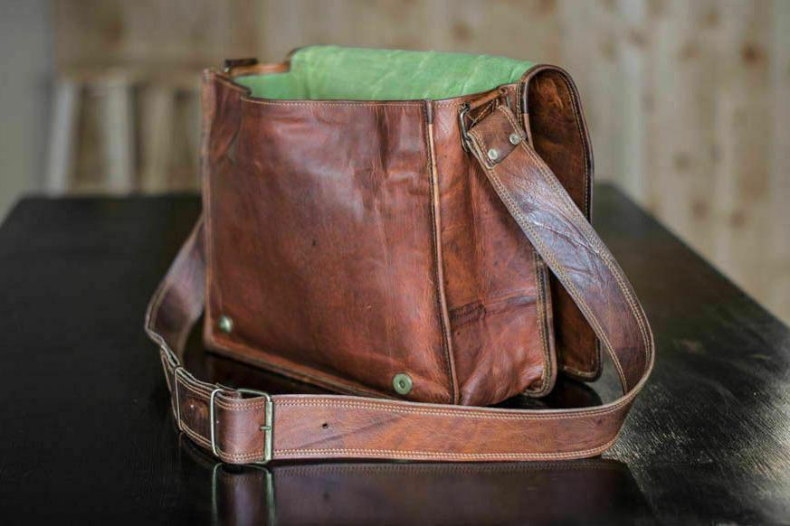 Bag Leather Messenger Shoulder S