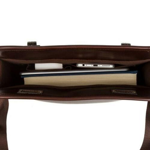 Men's Leather Shoulder Bags Business Briefcase