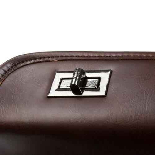 Men's Leather Shoulder Briefcase Satchel