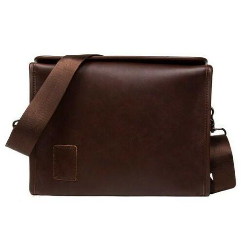 Men's Leather Shoulder Crossbody Briefcase