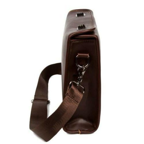 Men's Shoulder Crossbody Briefcase Satchel