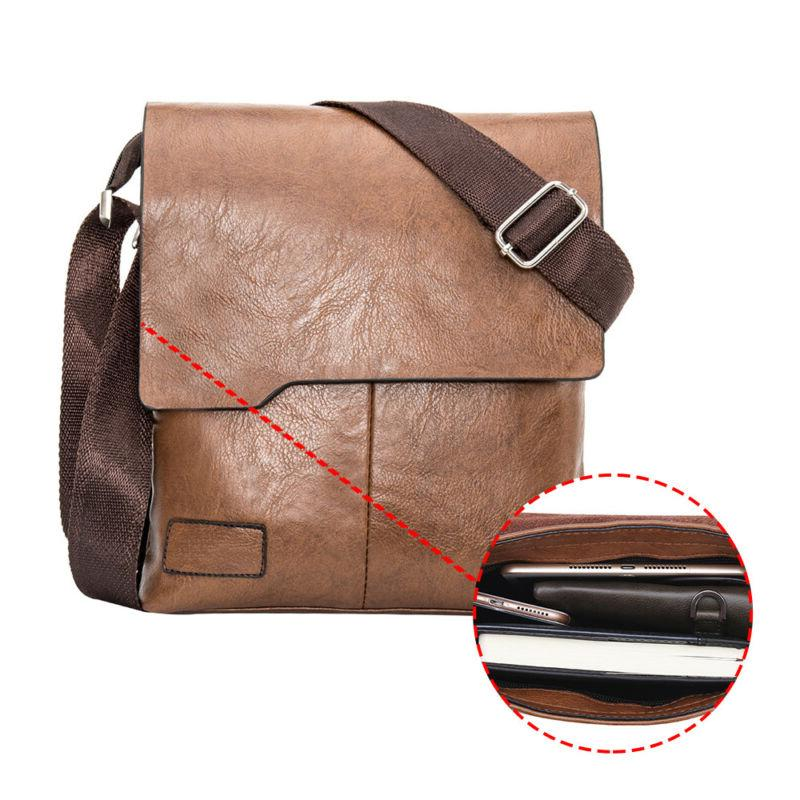 Men's Leather Messenger Bags Laptop Bag Handbag
