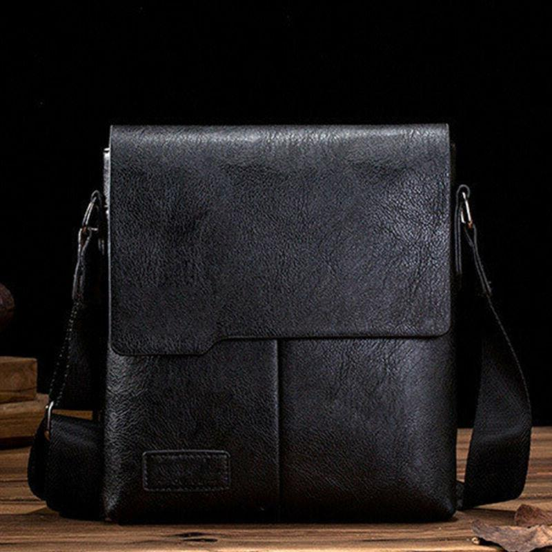 Men's Leather Messenger Laptop