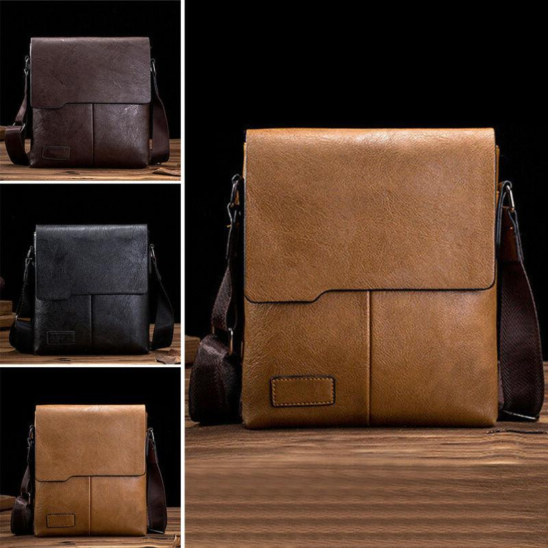 men s leather messenger shoulder bags business