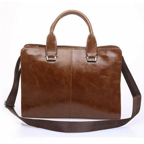Men's Leather Shoulder Messenger Bags Cross Body Bag Busines