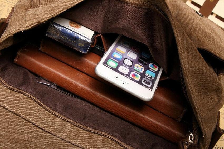 """Men's Bag Satchel 14"""" Laptop Shoulder"""