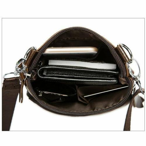 Men's Genuine Leather Business Small Flap Bag Messenger