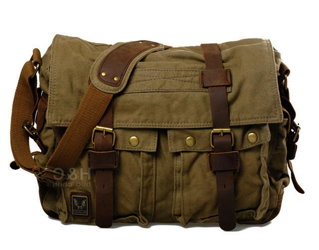 Men's Military Satchel Shoulder Messenger Bag