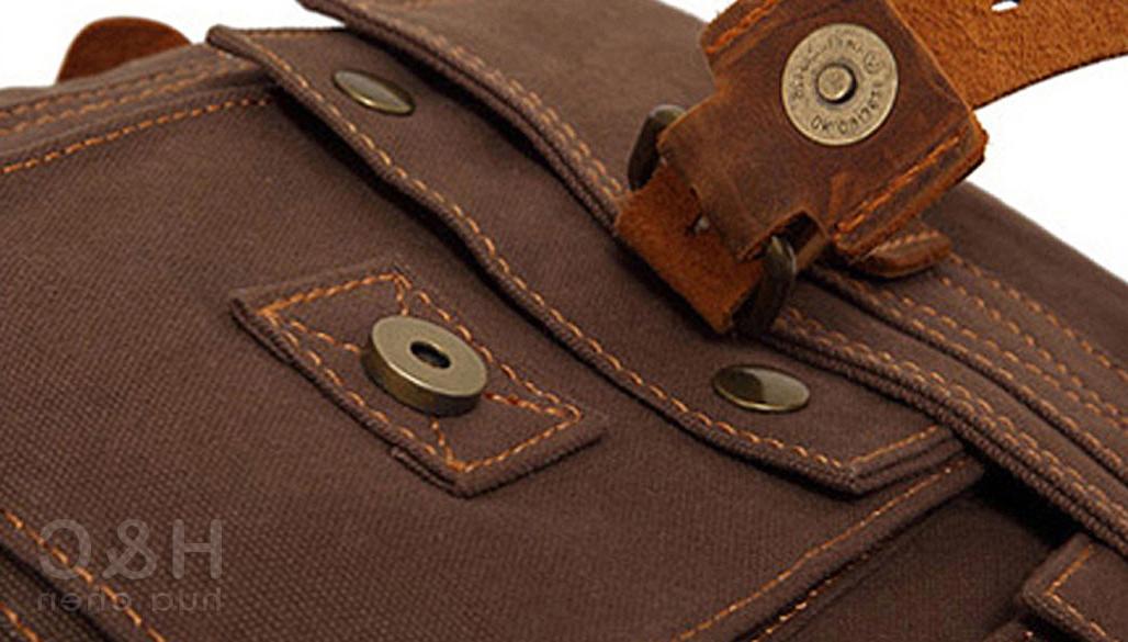 Men's Military Canvas Satchel Shoulder Bag