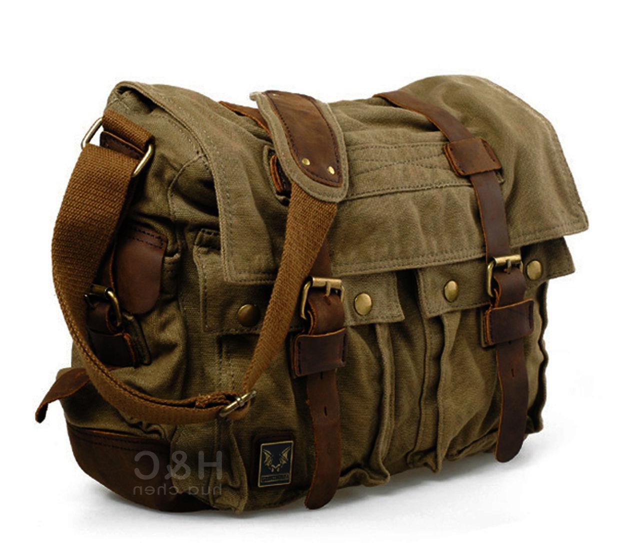 Men's Satchel School Shoulder Messenger Bag